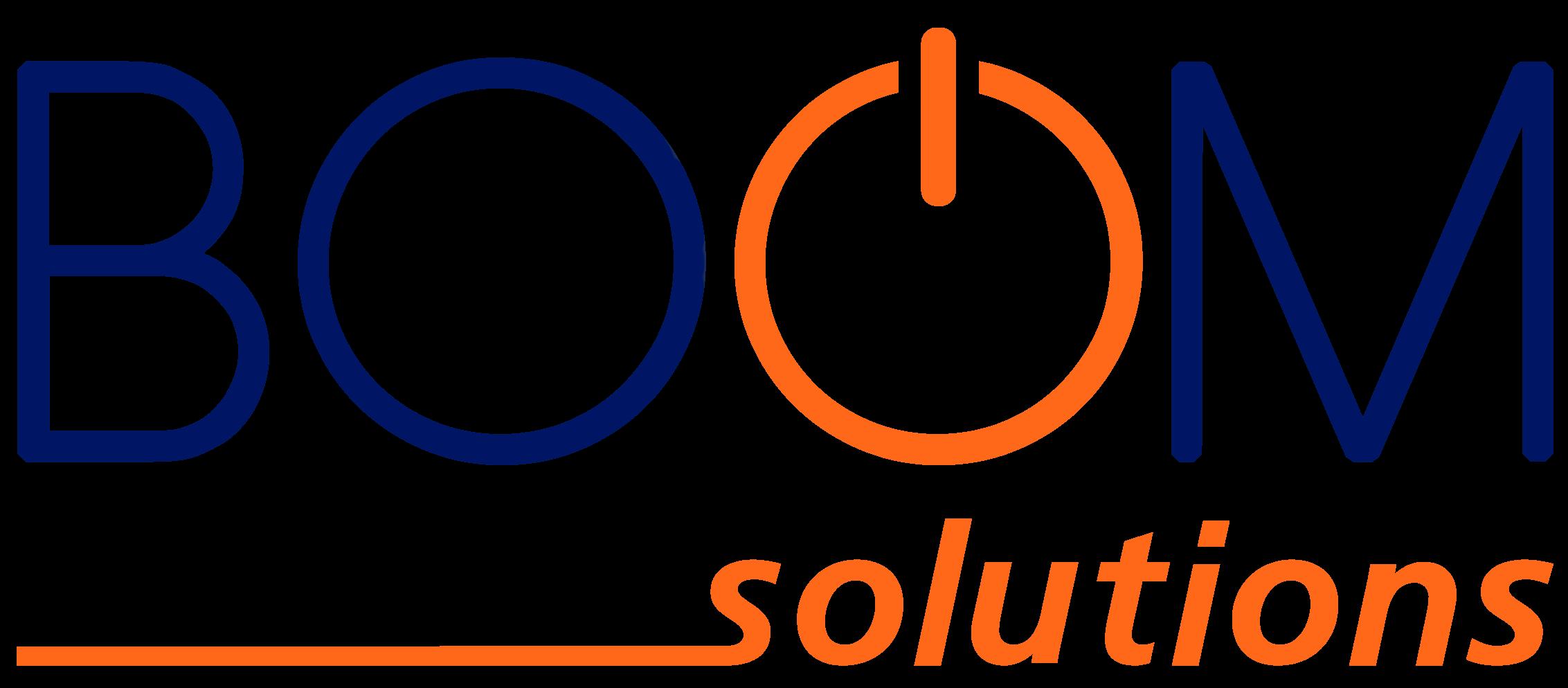 logotipo boom solutions